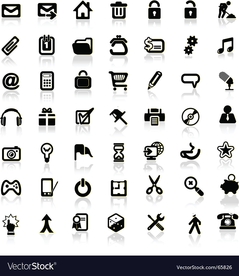 Set of internet icons vector image