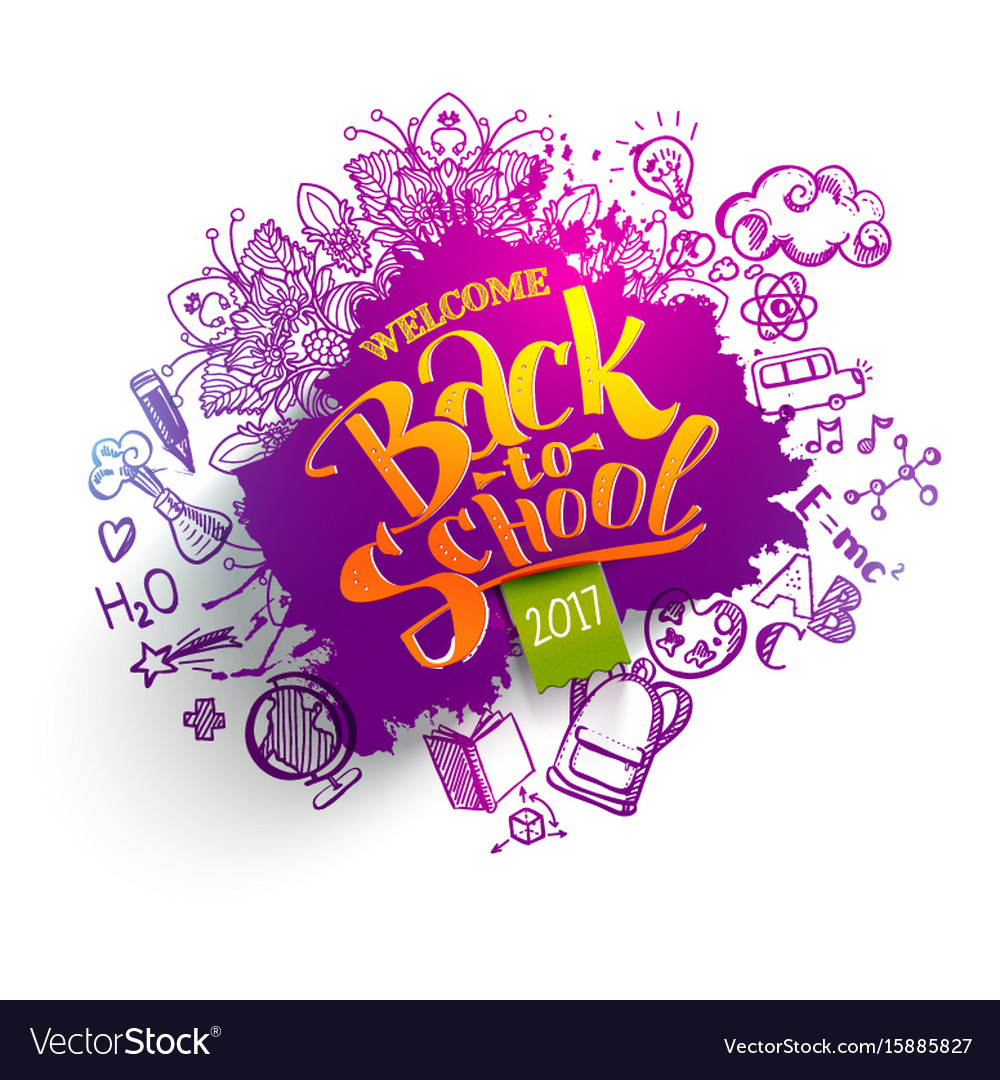 Back to school sale splash backdrop vector image