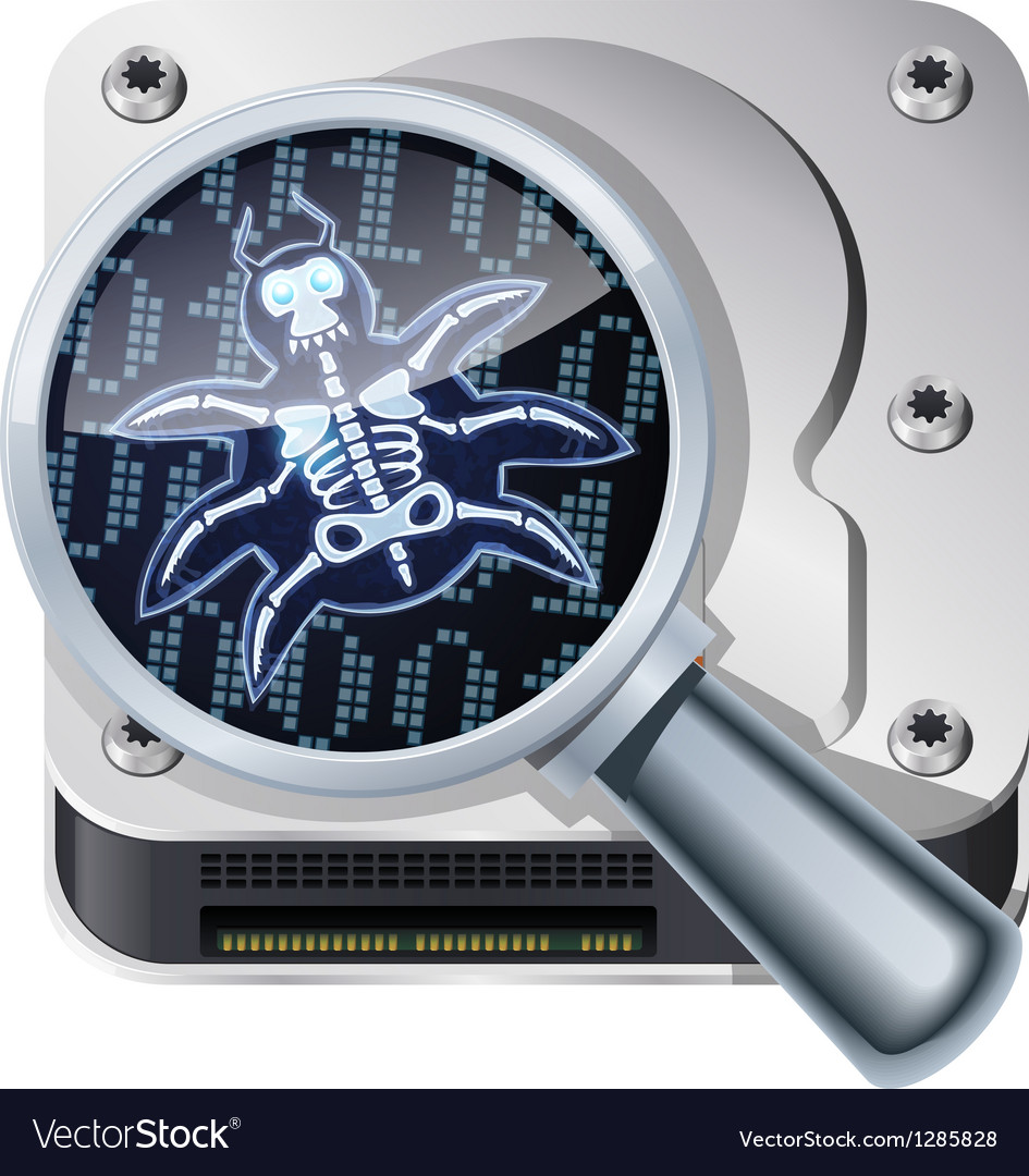 HDD bug vector image
