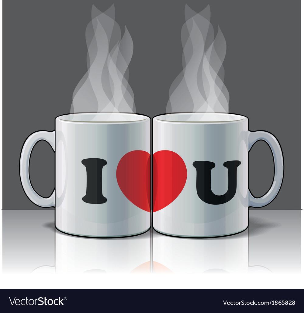 I Love U Mags vector image