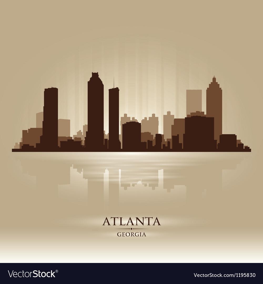 Atlanta Georgia skyline city silhouette vector image