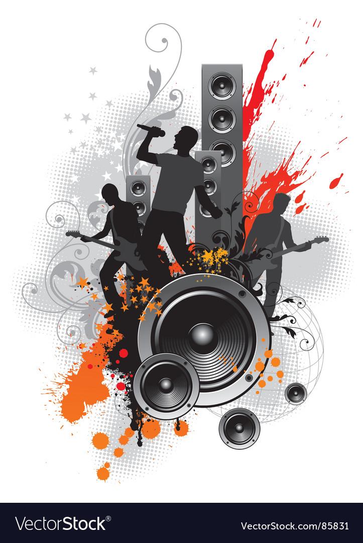 Rock band vector image
