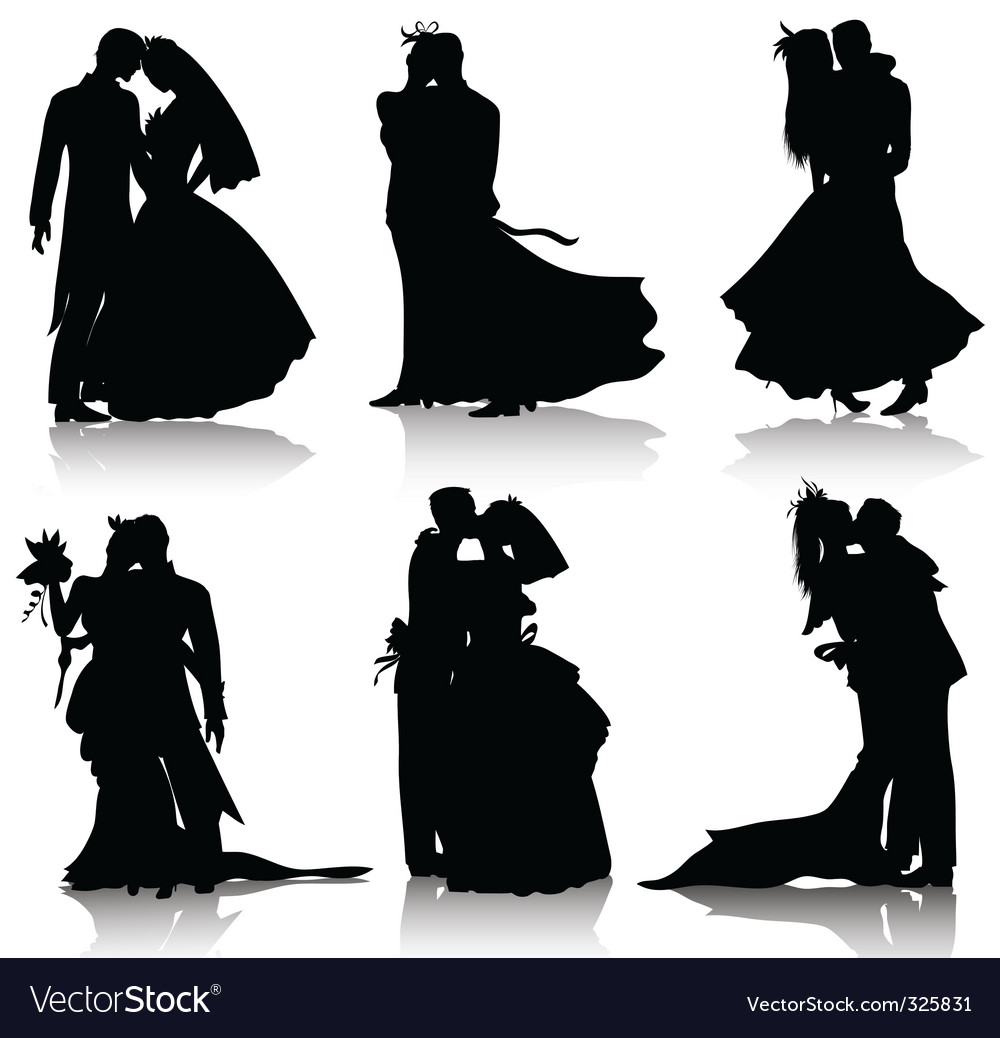 Wedding silhouettes royalty free vector image vectorstock wedding silhouettes vector image junglespirit Gallery