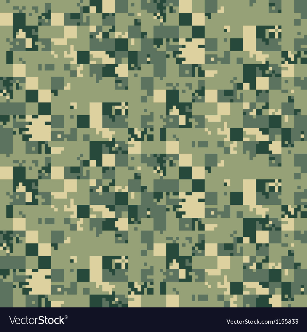 Digital camouflage seamless pattern Vector Image