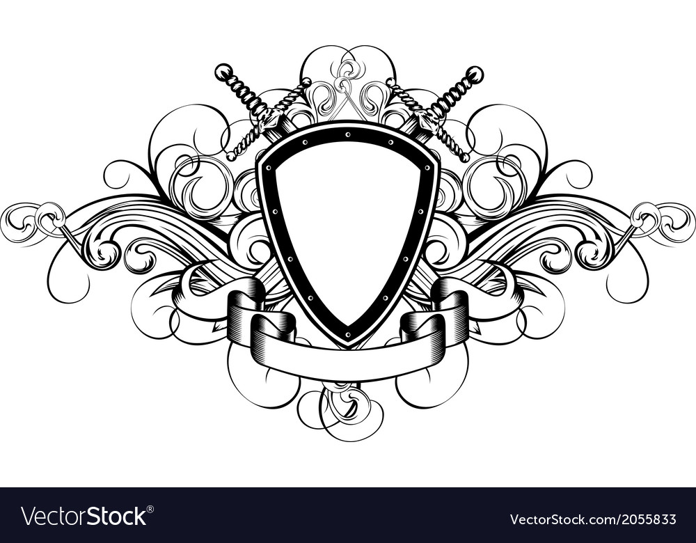 Board patterns and crossed swords vector image