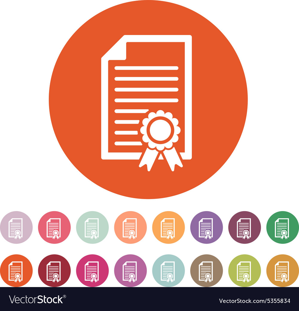 The diploma icon certificate symbol flat vector image the diploma icon certificate symbol flat vector image buycottarizona