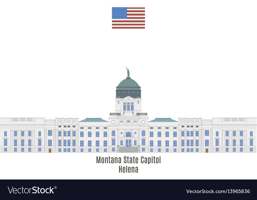 Montana state capitol vector image