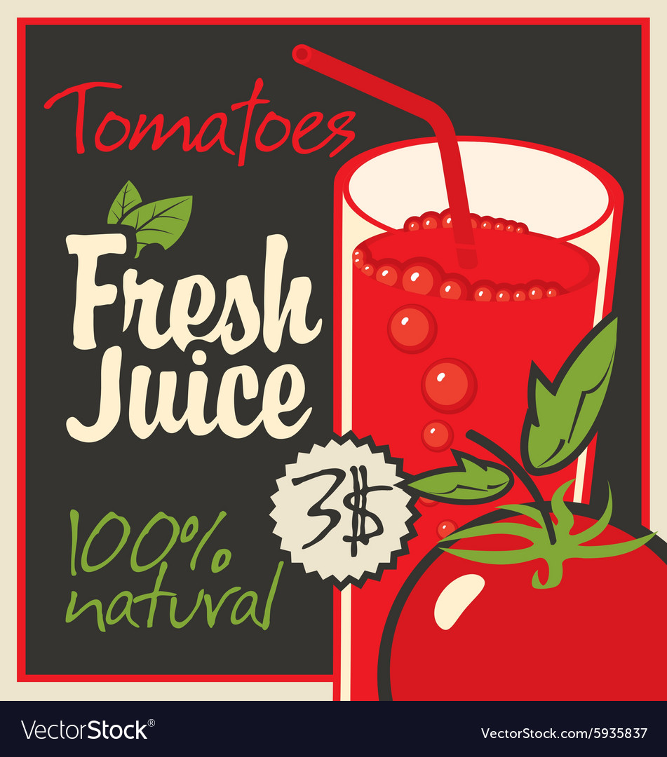Juice tomatoes vector image
