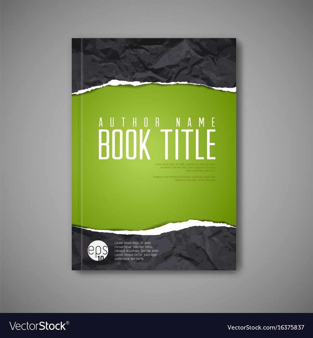 Cool Book Cover Vector : Modern abstract book cover template royalty free vector