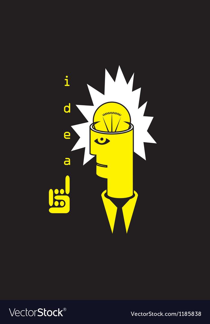 Head with a idea vector image