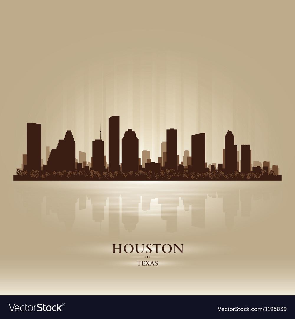 Houston Texas skyline city silhouette vector image