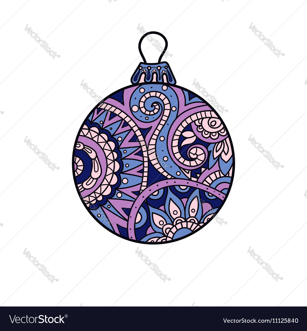 New year Christmas ball vector image