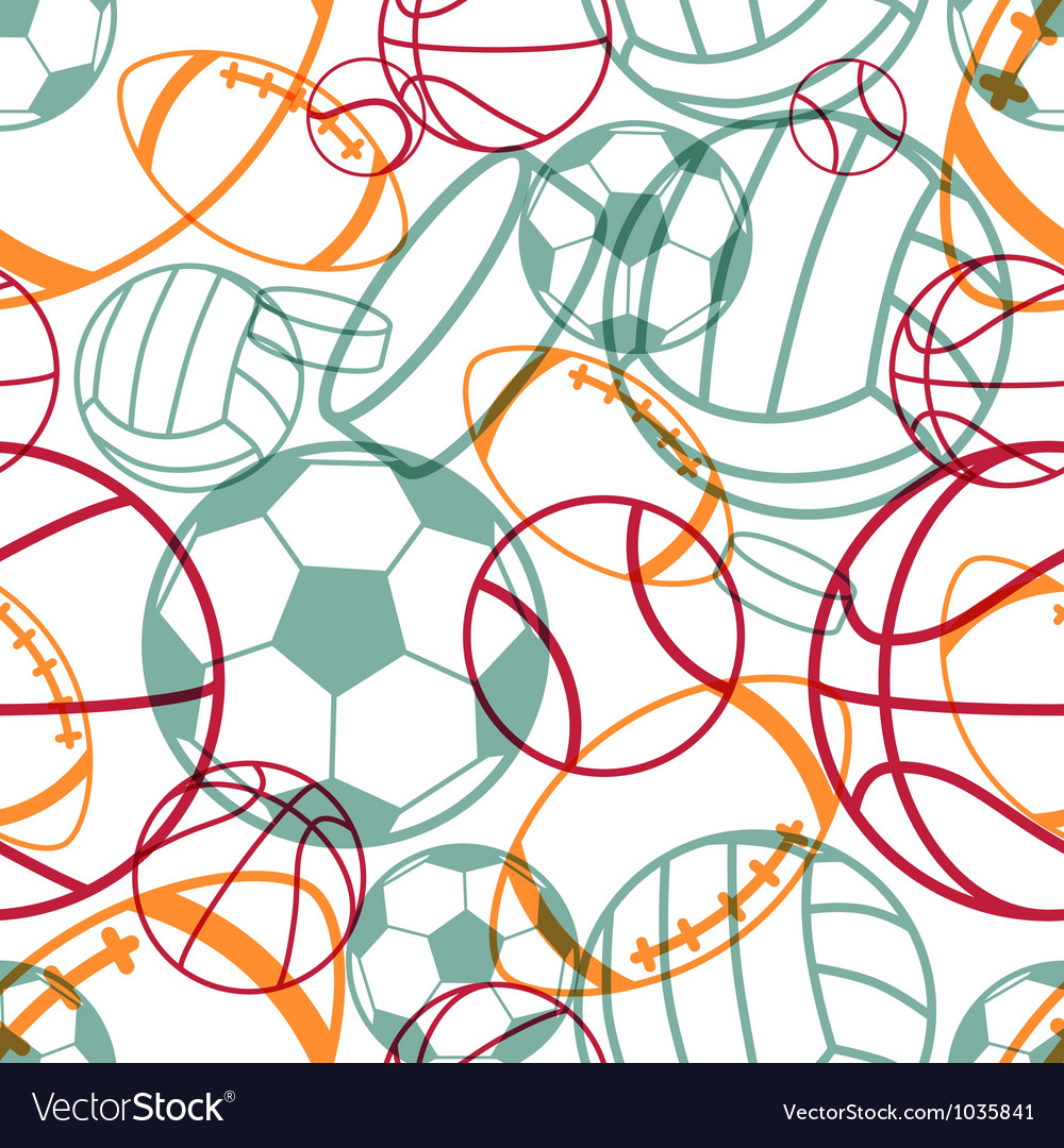 Sports seamless pattern vector image