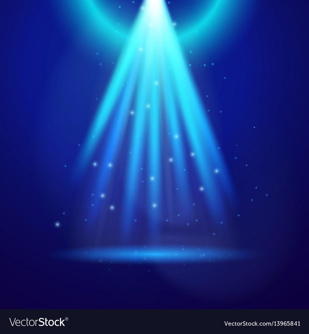 Blue shine light vector image