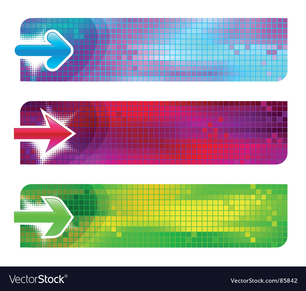 Three banners with arrows vector image