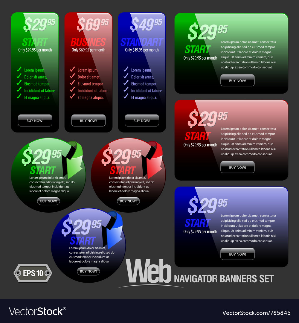Abstract shiny glass banner vector image