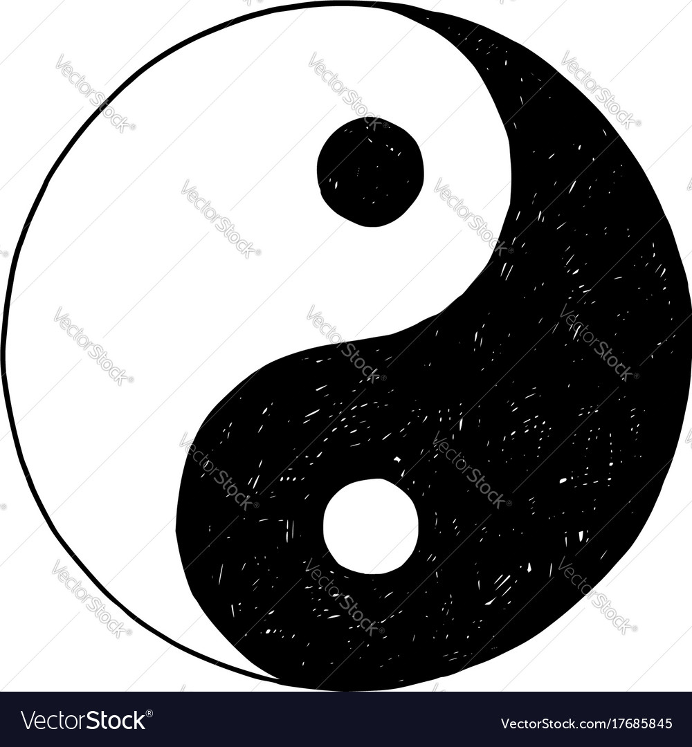 Hand drawing of yin yang jin jang symbol vector image hand drawing of yin yang jin jang symbol vector image biocorpaavc