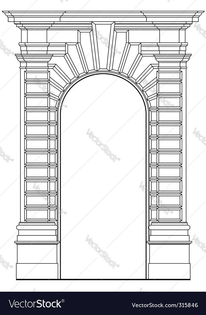 Architectural element vector image