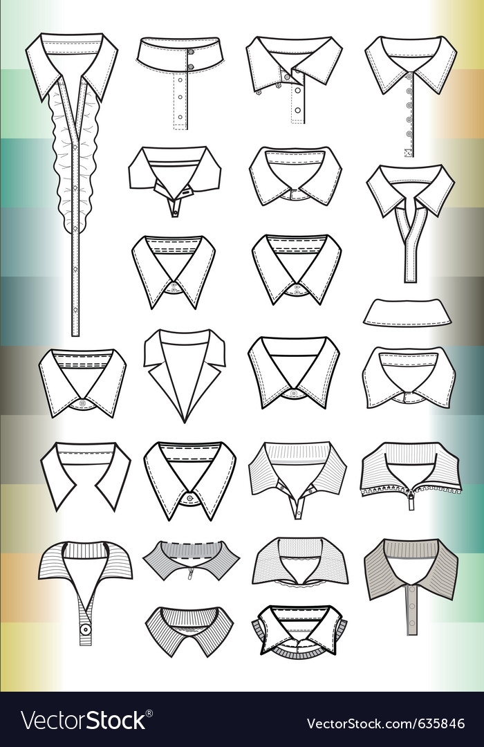 Collars vector image