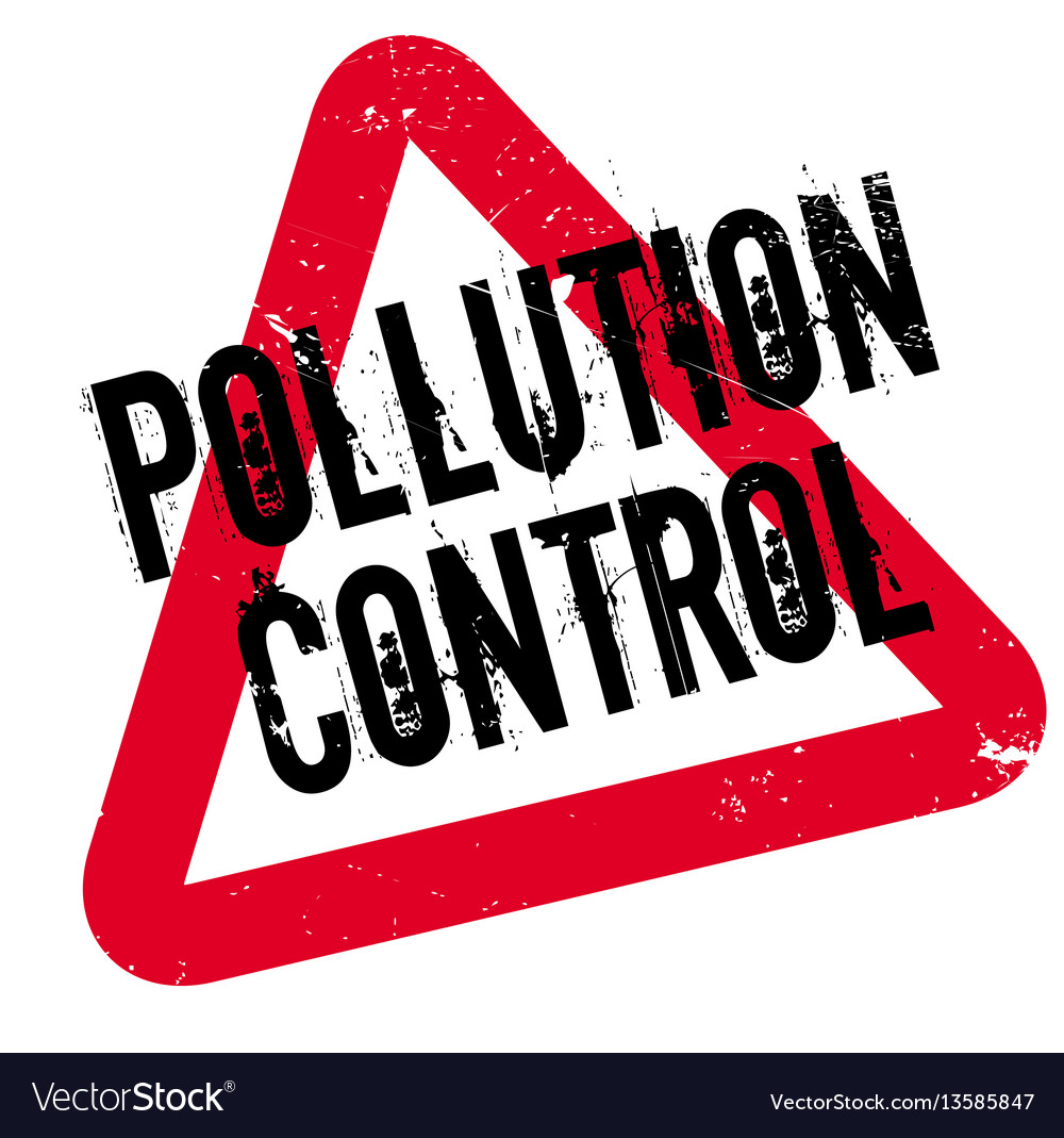 Pollution control rubber stamp vector image