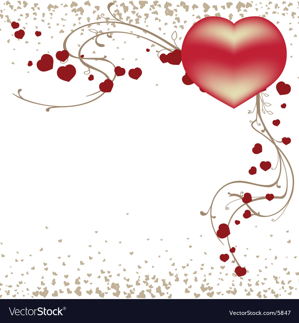 valentines day template vector image - Valentines Day Template