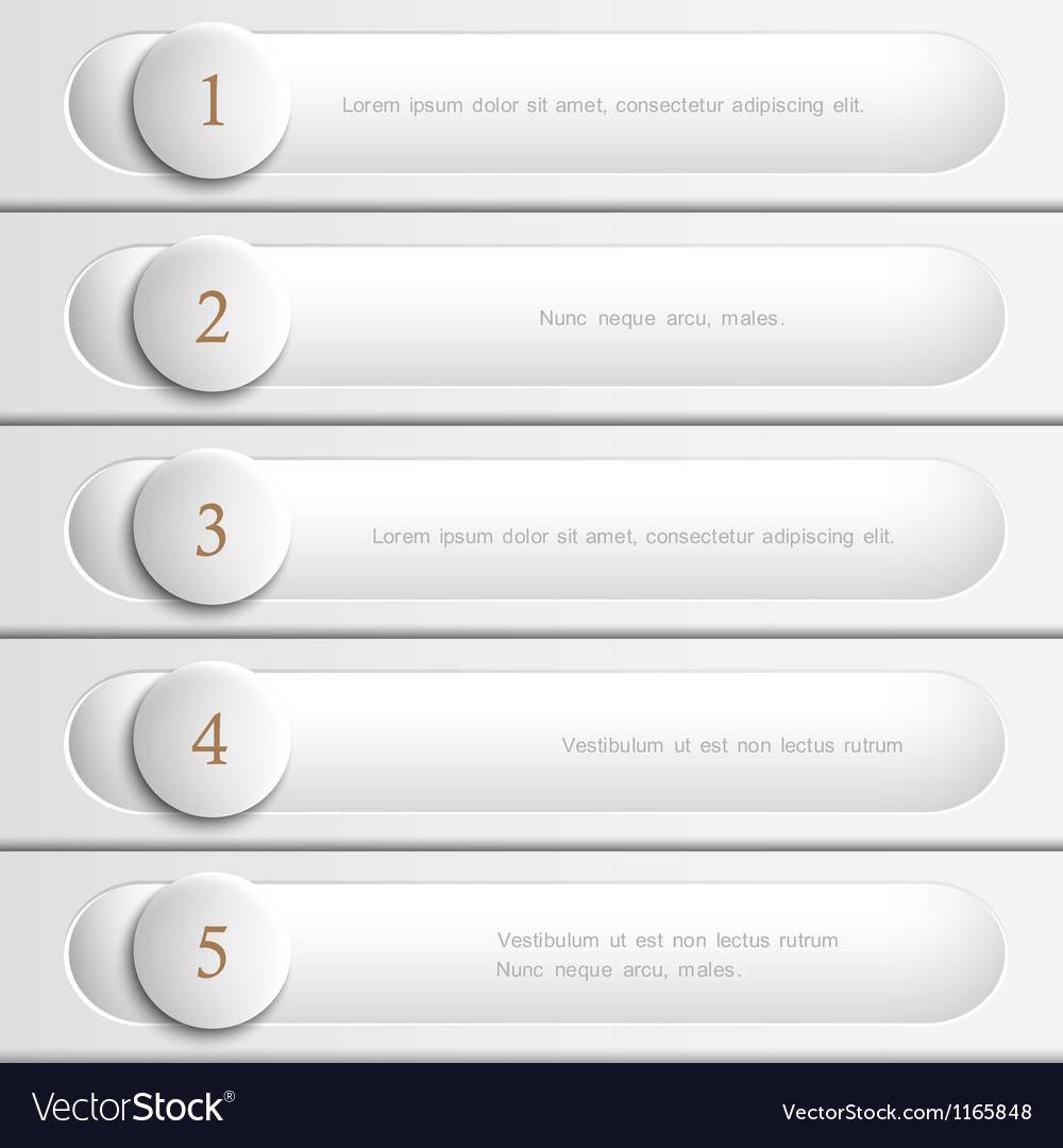 Creative white design website layout vector image