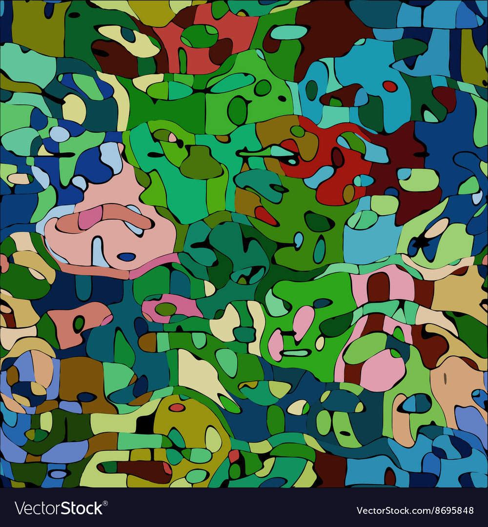 Abstract color mosaic animals pattern vector image