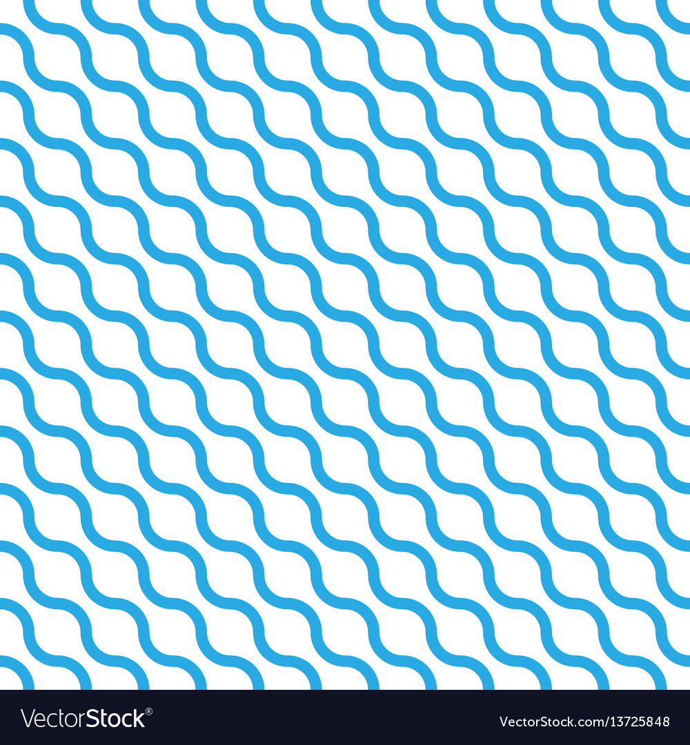 Abstract seamless pattern with blue waves in vector image