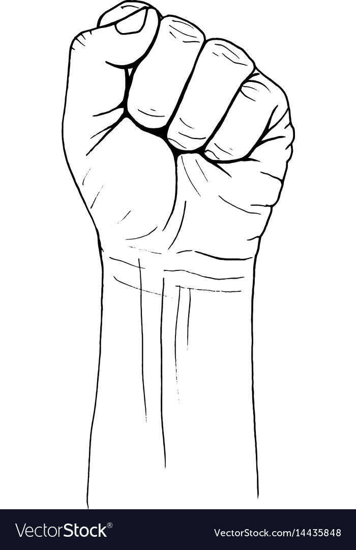 Fist vector image