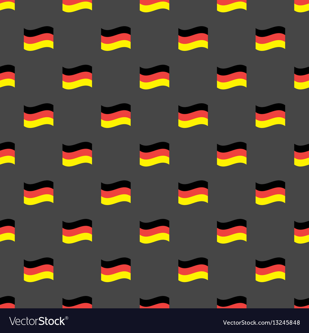 Germany flags seamless pattern vector image