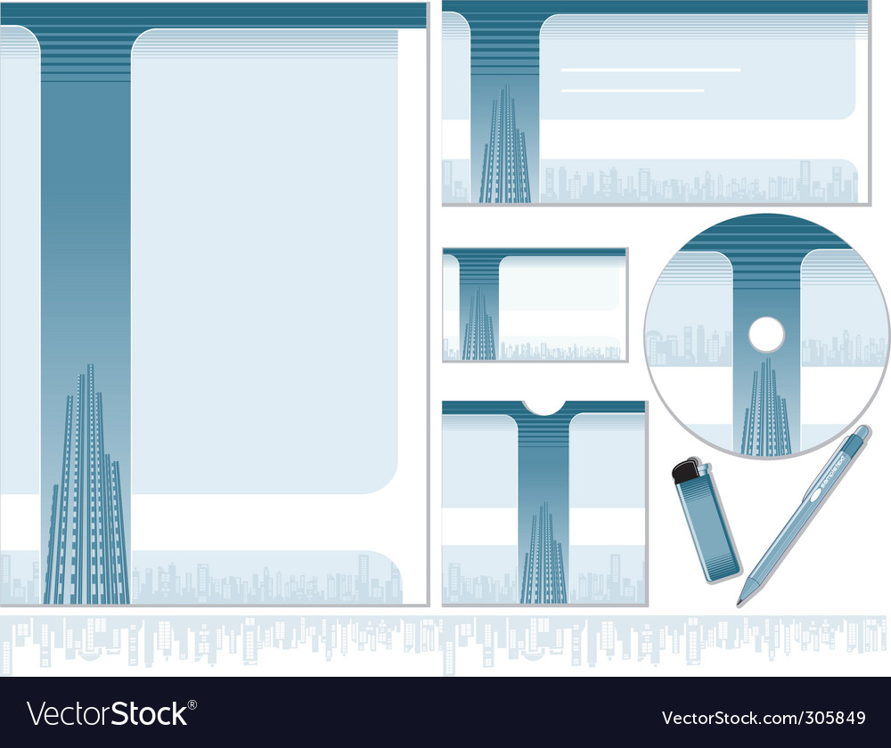 Design stationary vector image