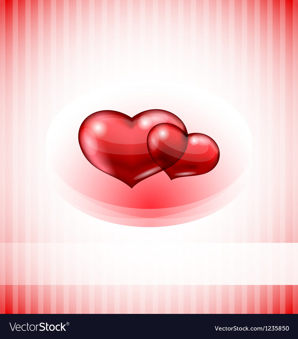 Valentines day card with set hearts vector image