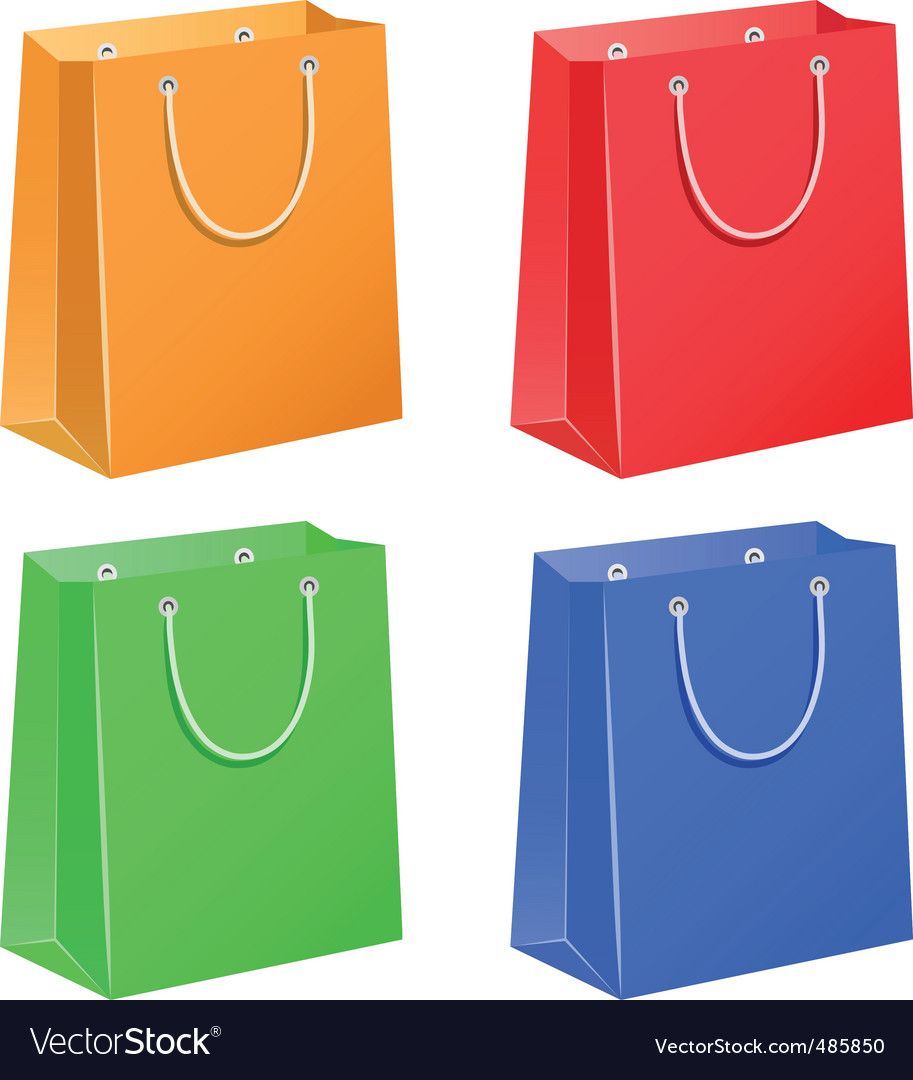 Paper bag vector - Paper Bags Vector Image