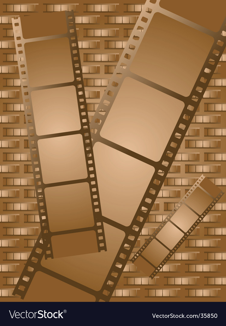 Old brown film vector image