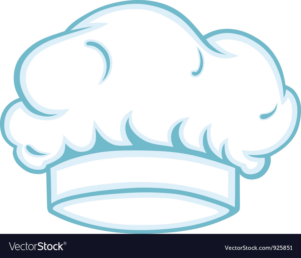 Chef cap vector image