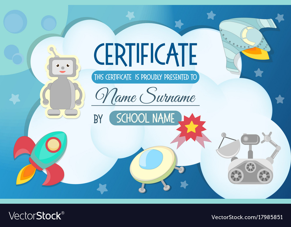 diploma the certificate of the teaching game vector image diploma the certificate of the teaching game vector image