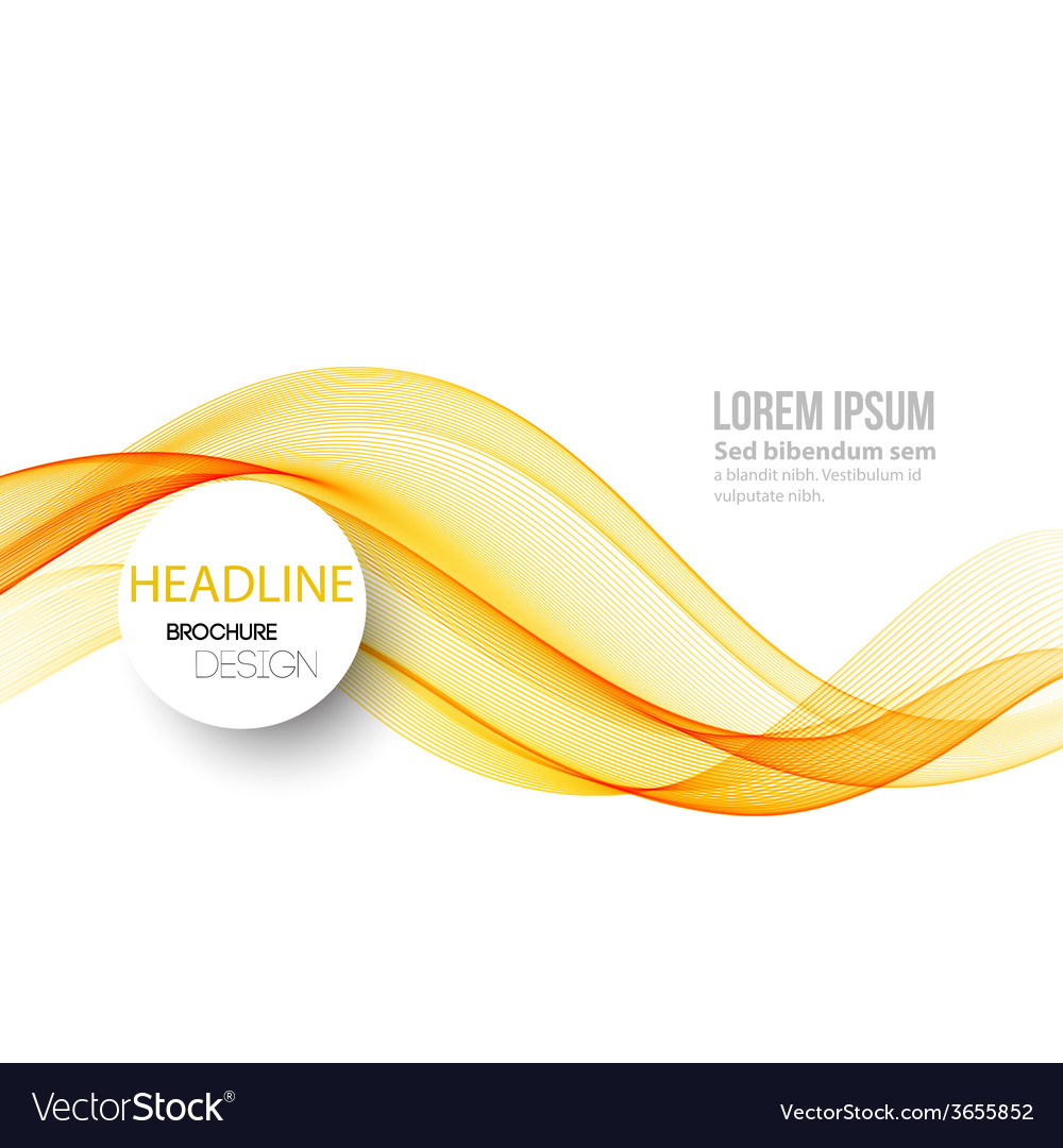 Abstract lines background Template brochure design vector image