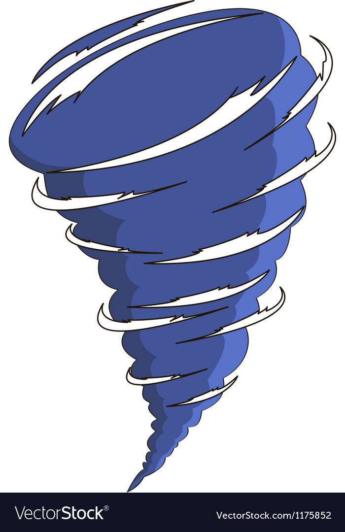 Cartoon tornado vector image