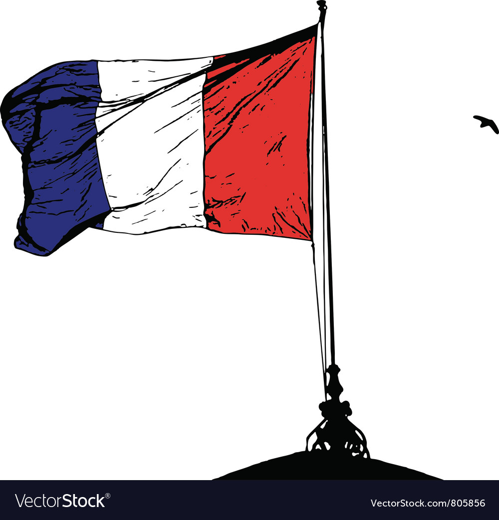 french flag royalty free vector image vectorstock