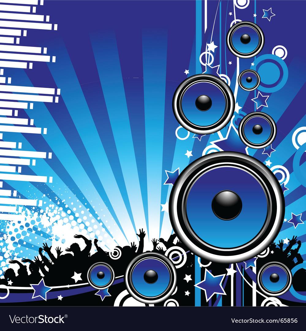 Speakers vector image