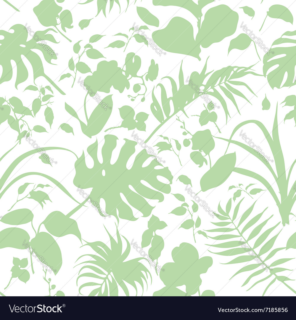 Tropic silhouette pattern vector image