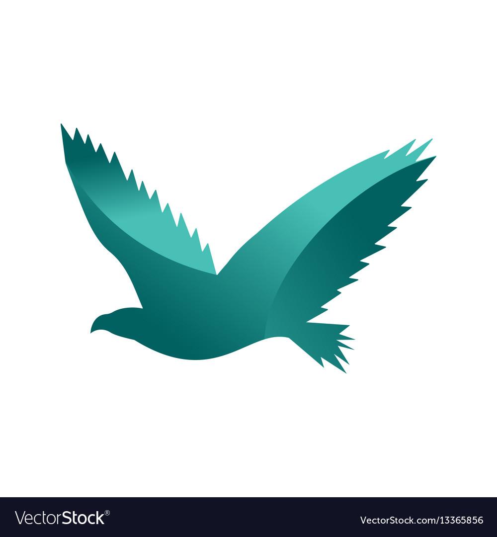 Wild eagle animal jungle pet logo silhouette of vector image