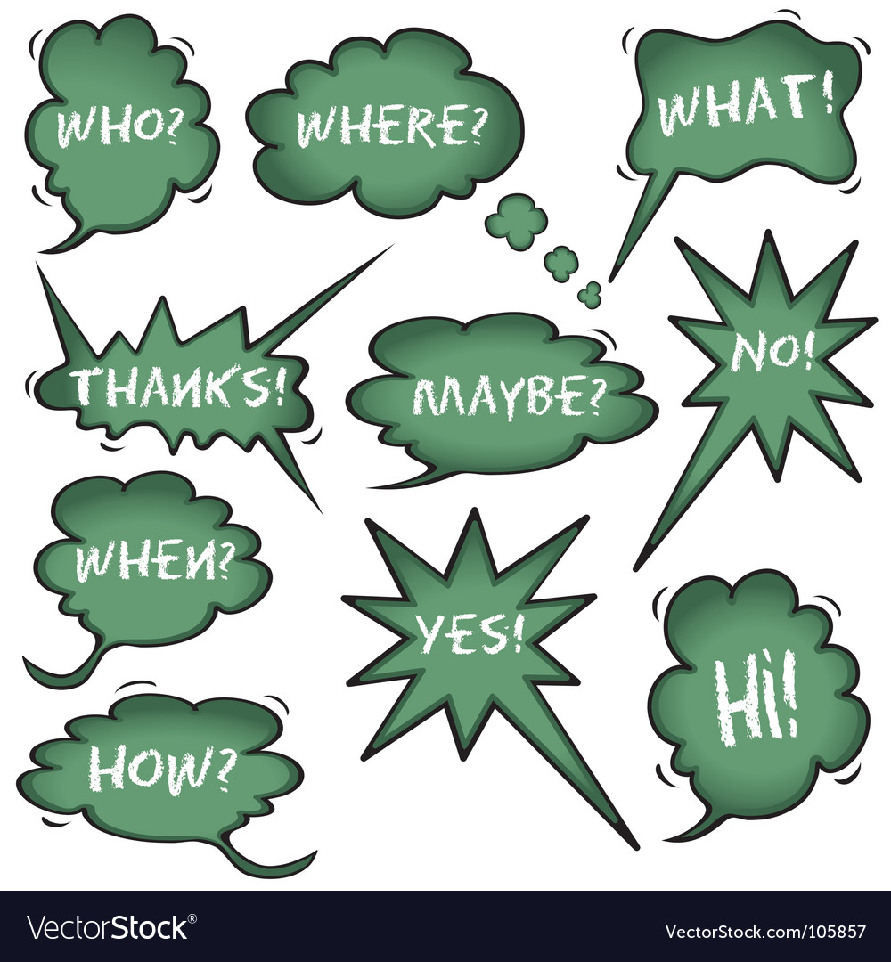 Chalkboard speech bubbles vector image