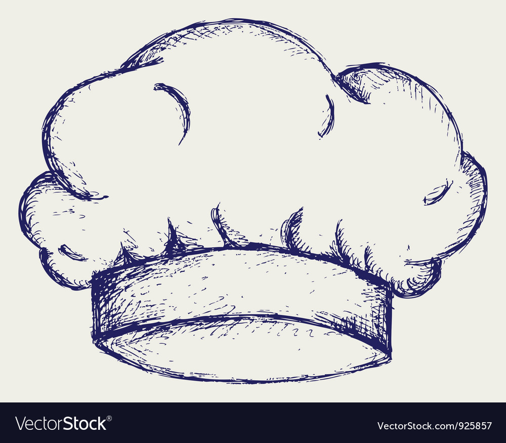 Chef cap vector image