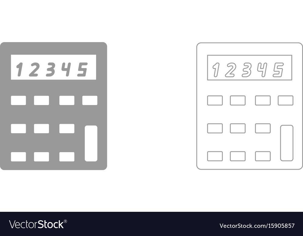 Calculator the grey set icon vector image