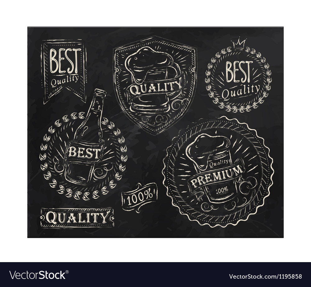 Beer Quality elements vector image
