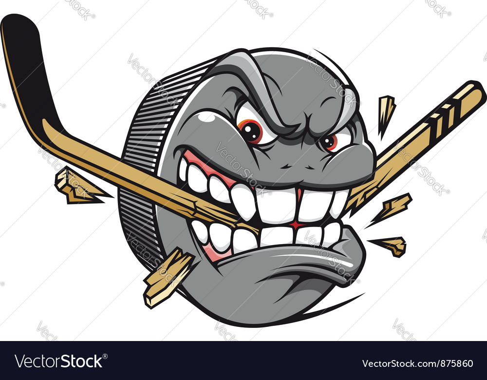Hockey puck bites vector image