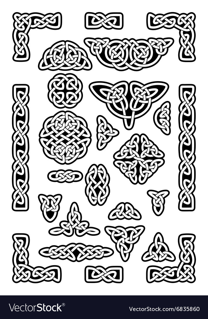 Celtic Knots Collection vector image