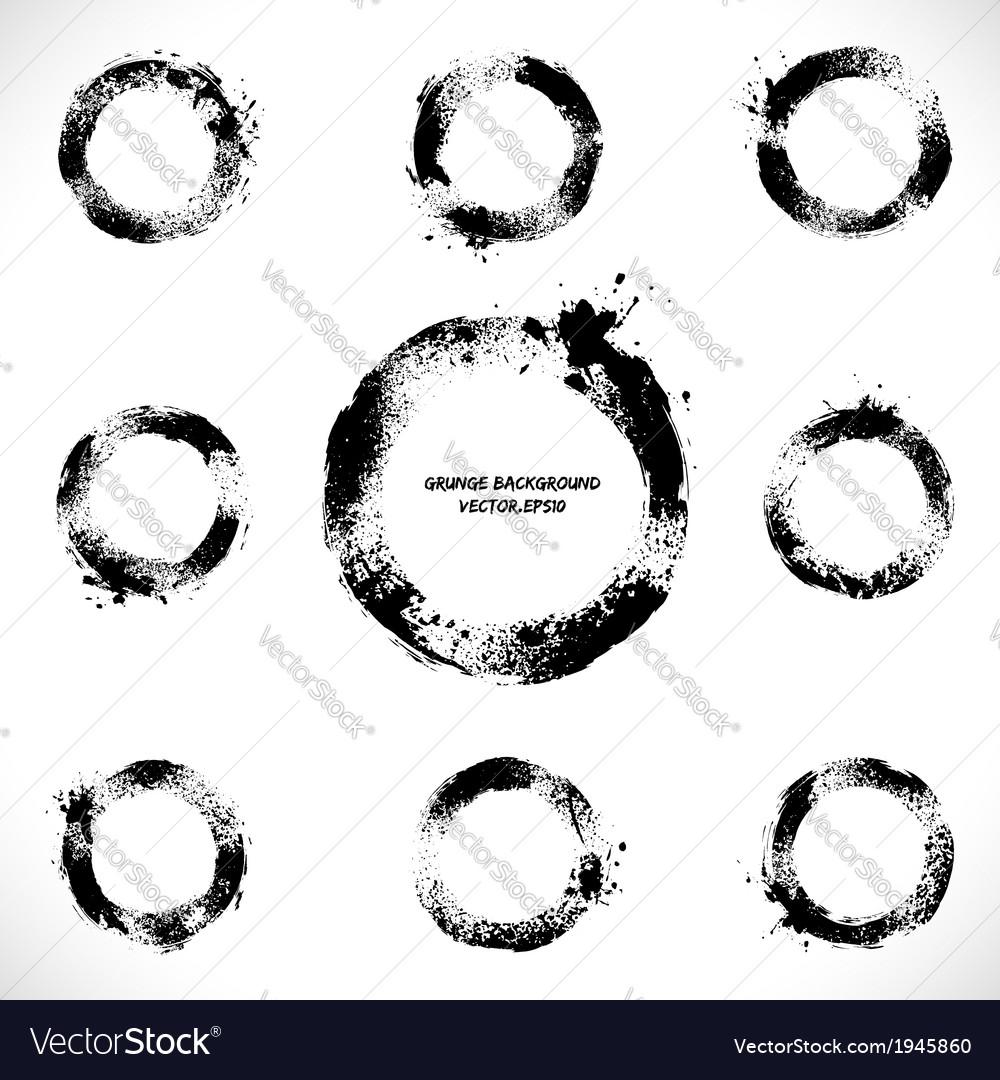 Round grunge frames background vector image