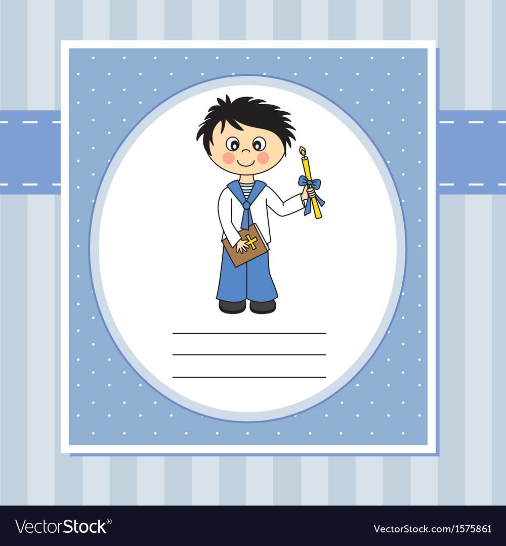 First Communion Invitation vector image